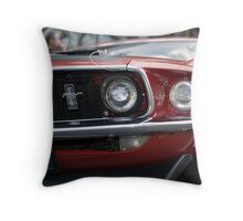 69 Mustang Muscle Car Throw Pillow