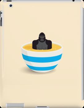 Gorilla In Custard by Mark Walker