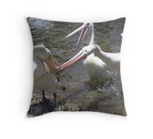 Pelican Fight Throw Pillow