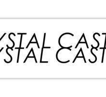 Crystal Castles logo Sticker