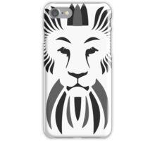 Lion Haze - Black & White King iPhone Case/Skin