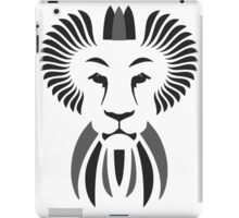Lion Haze - Black & White King iPad Case/Skin