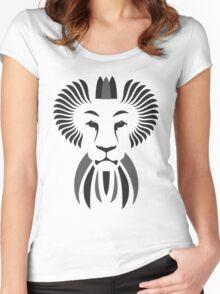 Lion Haze - Black & White King Women's Fitted Scoop T-Shirt