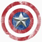 Cap America Shield with star by Mark Walker
