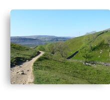 Walking in the Yorkshire Dales Canvas Print