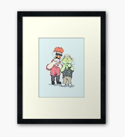 Beaker & Bunsen In Las Vegas Framed Print
