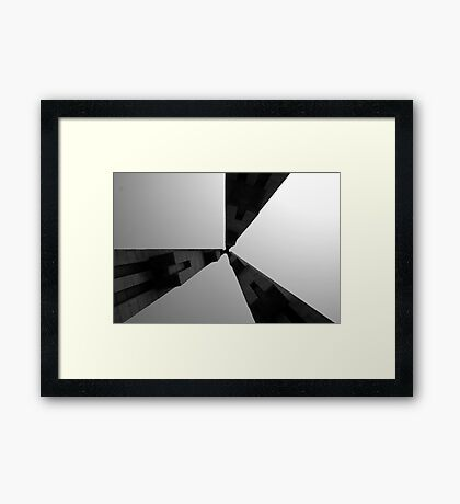 Looking Up v4 - Monument to the People's Heroes, Shanghai Framed Print