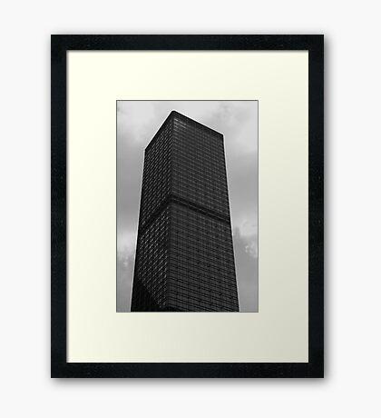 Looking Up v5 - Cheung Kong Centre, Hong Kong Framed Print