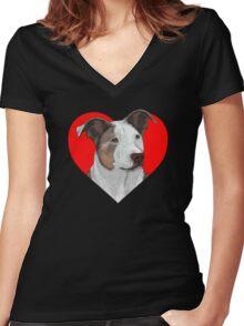 Uma Women's Fitted V-Neck T-Shirt