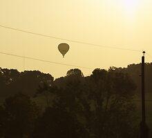 Hot Air Balloon Sunset by vangogh1721