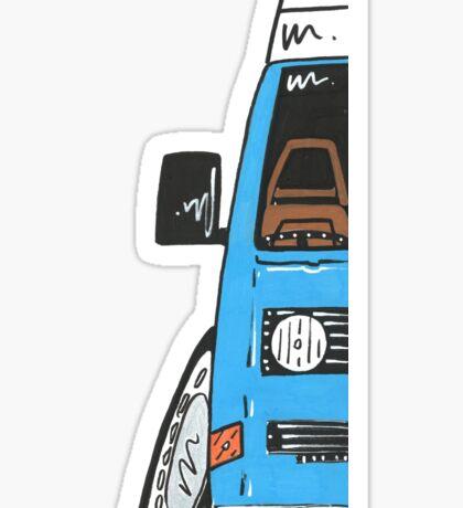 VW T25 Camper Van Blue Dream Sticker