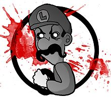 Luigi Death Stare by amberstricklin