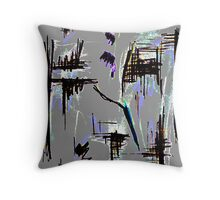 wild scribbles of nature Throw Pillow