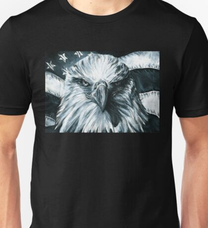 Stand. American Flag Bald Eagle Unisex T-Shirt
