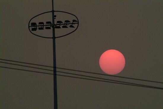 Smoke at Sunset by Joe Mortelliti