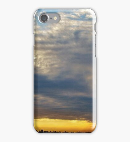 Heavy sunset clouds in New York City  iPhone Case/Skin