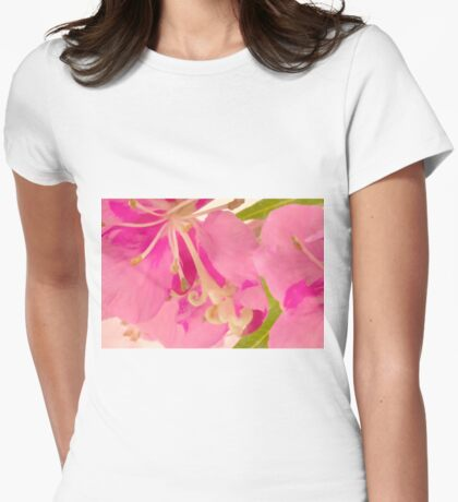 Fireweed Macro Digital Watercolor Womens Fitted T-Shirt