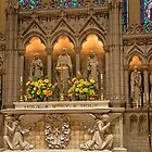 USA. Connecticut. New Haven. Trinity Church on the Green. Altar. by vadim19