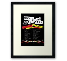 Sonic Fiction Fest Framed Print
