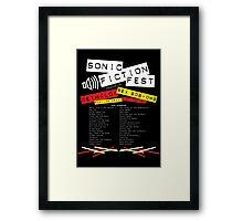 Sonic Fiction Fest Framed Print