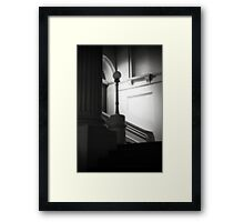 Ethereal pillar light Framed Print