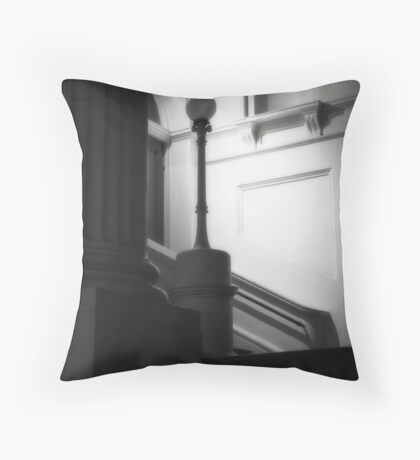 Ethereal pillar light Throw Pillow