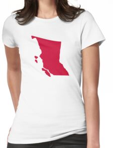 Canada British Columbia Womens Fitted T-Shirt