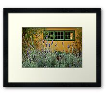 Lavender Cottage Framed Print