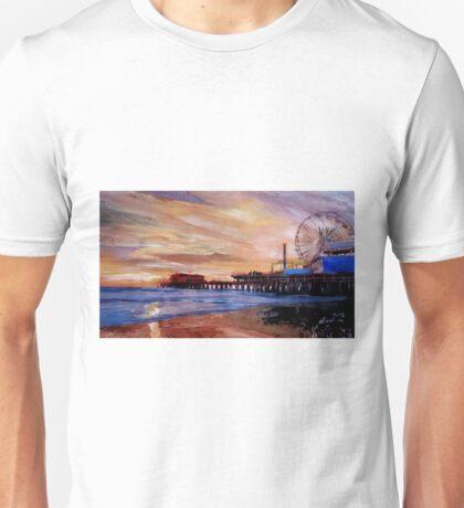 Santa Monica Pier at Sunset Unisex T-Shirt