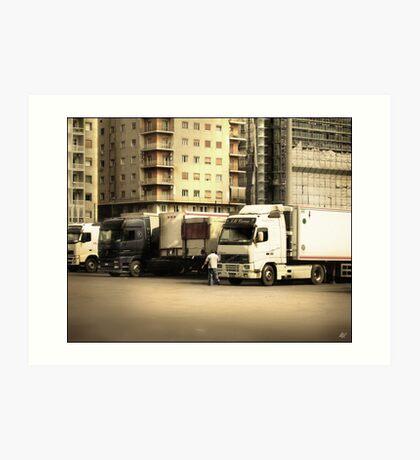 Naples Trucks Art Print