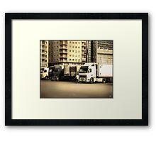 Naples Trucks Framed Print