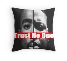 "Tupac and Biggie ""Trust No One"" Supreme Throw Pillow"
