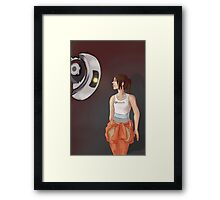 Chell and Glados Framed Print
