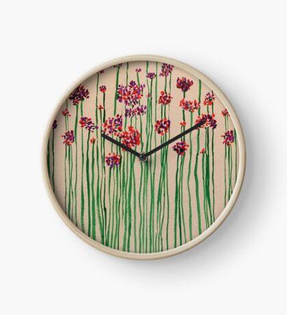 Pop Blossom Watercolor Clock