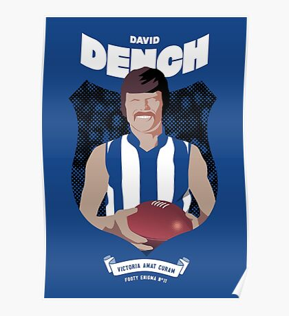 David Dench - North Melbourne (for blue shirts only) Poster