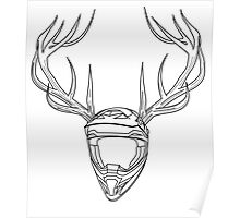 Mx Stag Head Poster