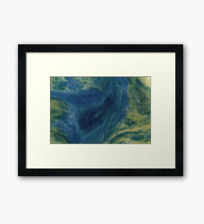 Mixed yellow and blue colors Framed Print