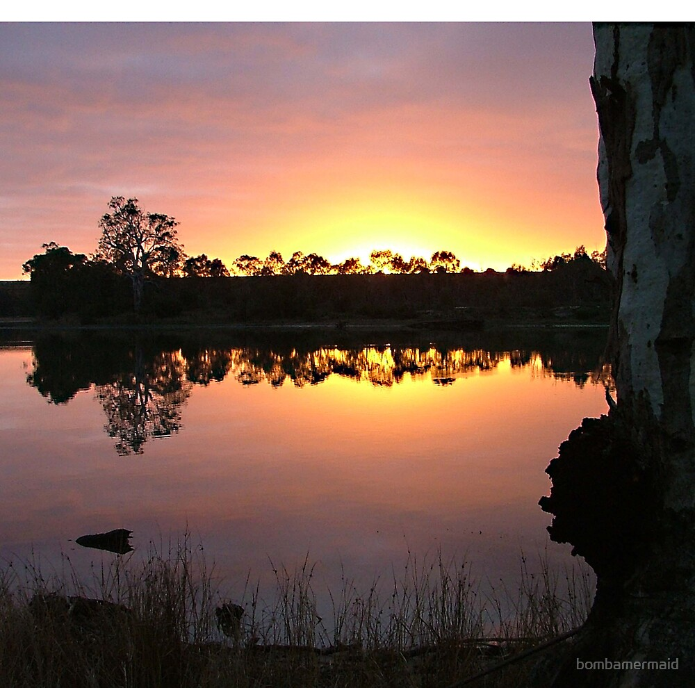 Sunrise on the Murray River SA by bombamermaid