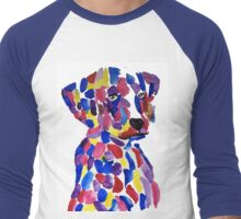 Colorful puppy Men's Baseball ¾ T-Shirt