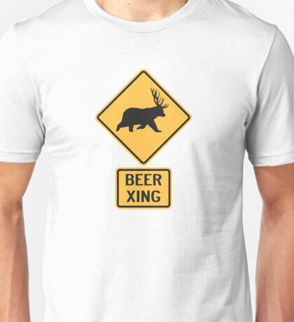 Bear Deer Beer Crossing Unisex T-Shirt