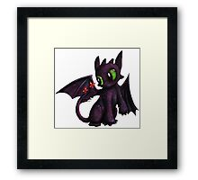 Lil Toothless Framed Print