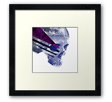 Purple Skull Framed Print