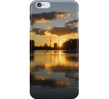 Burning Sunset at the Beaches Marina iPhone Case/Skin