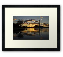Burning Sunset at the Beaches Marina Framed Print