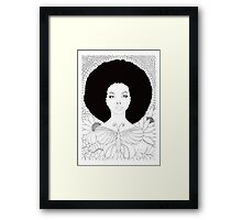 vivian (white background) Framed Print