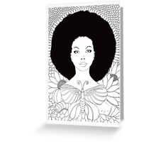 vivian (white background) Greeting Card