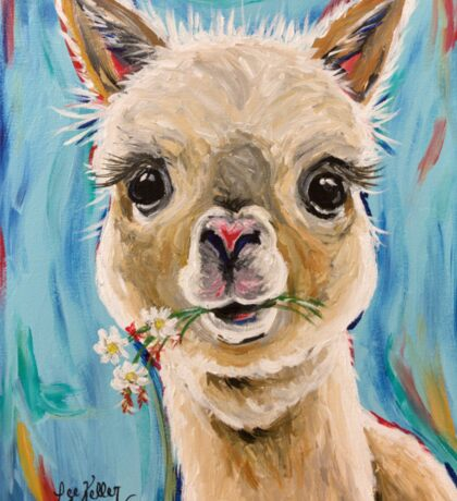Alpaca Art Sticker