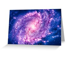 Cosmic vacuum cleaner (Spiral Galaxy M83) Greeting Card