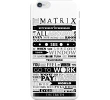 The Matrix iPhone Case/Skin