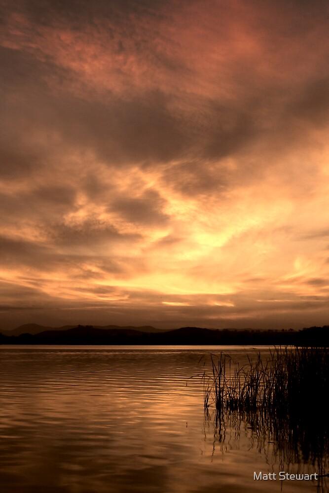 Sunset on Burley Griffin by Matt Stewart